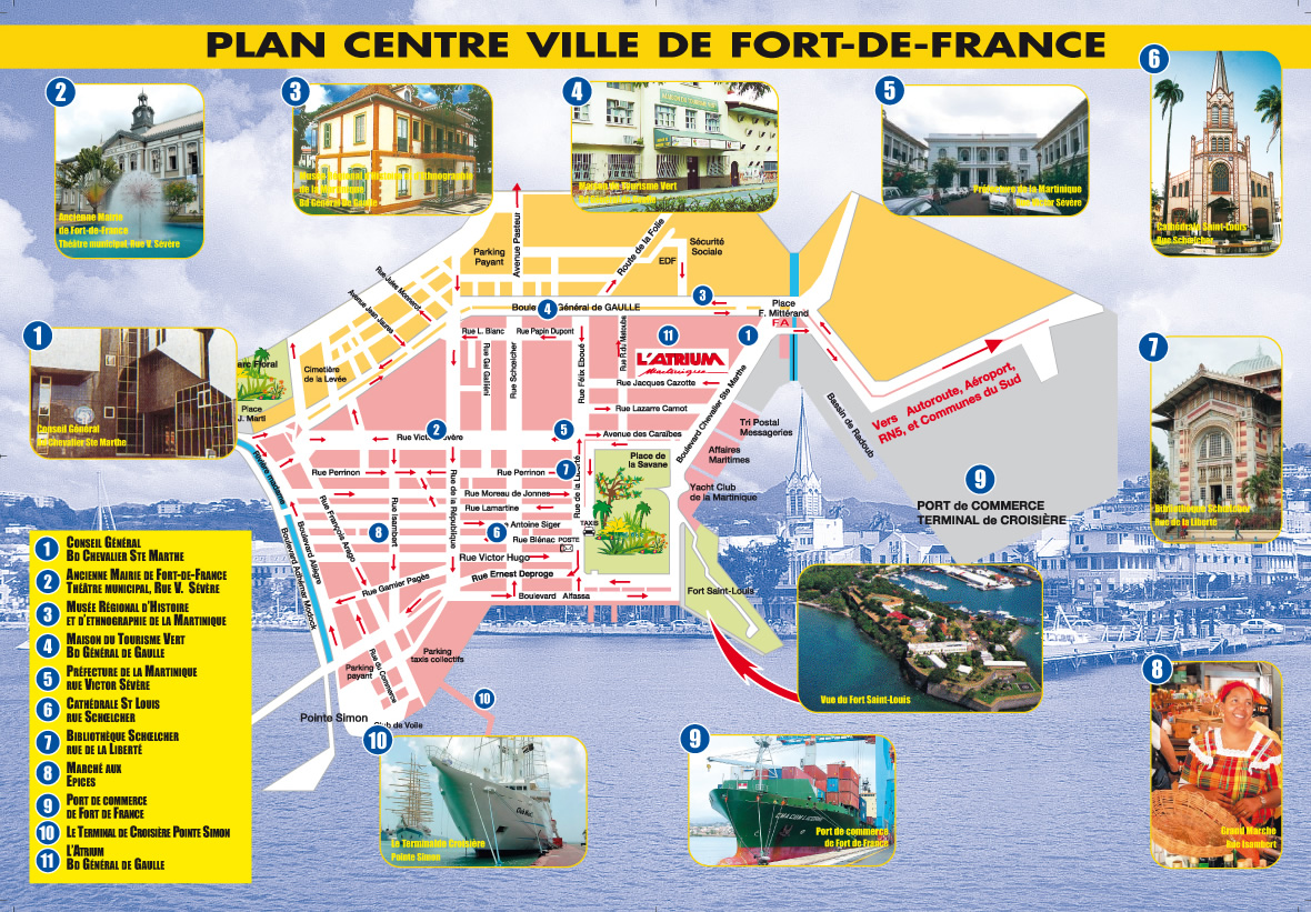 fort de france plan - Image